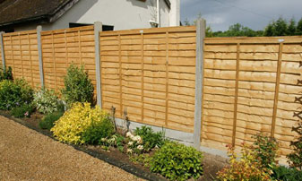 Supply Only Waney Lap Panel Fencing in Kent